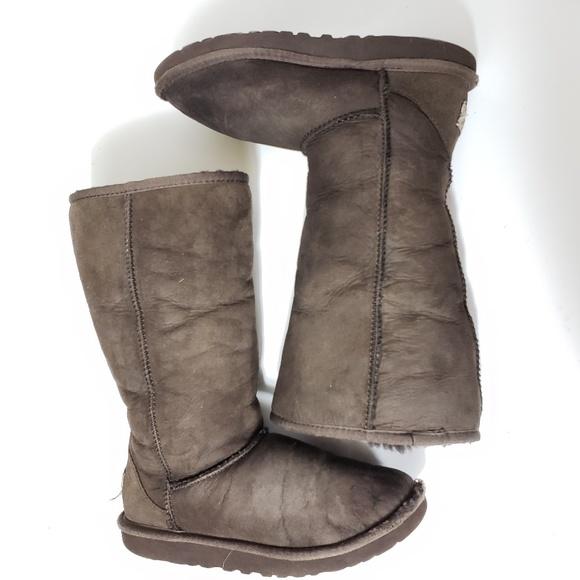 6d64dff275a Uggs Kids girl brown tall F3009G Sheepskin boots